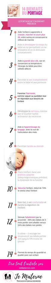 Avantages de porter: Voici 14 avantages pour transporter votre enfant   – Portage