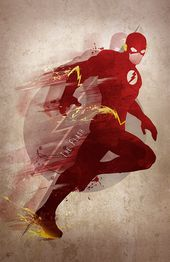 Unique Giclee Artwork Print 'The Flash'