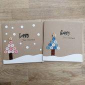 Die erste Weihnachtskarte des schönen handgemachten Babys entweder im Blau oder im Rosa (andere Farben verfügbar auf Anfrage) – kann personalisiert sein  – Christmas cards