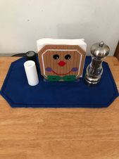 Whimsical Gingerbread Man Napkin Holder Plastic Canvas