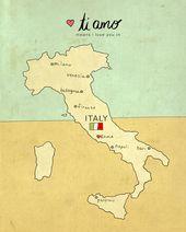 Obtain Printable, Italy Map, Fashionable Child, Nursery Artwork, Child Bathe Reward, Romantic Artwork, Italian, Illustration, Journey Theme, Digital Print