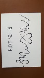 Handlettering by Marieke #handlettering #bruiloft #wedding #mr&mrs #50anniversar…