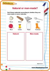 Natural Or Man Made 1st Grade Worksheets Science Lessons Teaching Science