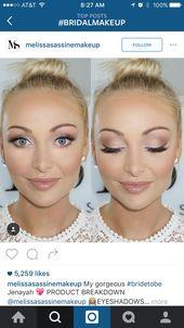 LIEBE das Leuchten in diesem Make-up. Die pfirsichfarbenen Farben passen so gut zu … – Make-up