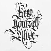 Blackletter Kalligraphie Inspiration #PyrographyforBeginners