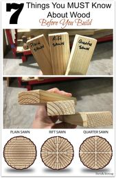 7 things you MUST know about wood before building a project or #Woo …