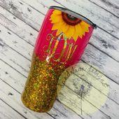 Glitter Tumbler Glitter Cup Sunflowers Wildflower Fierce & | Etsy  – Tumbler Obsessed