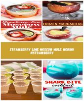Strawberry Lime Moscow Mule #drink #strawberry alcoholicas drink Strawberry Lime…