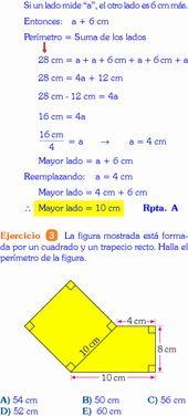 100 Ideas De Ejercicios Areas De Figuras Geometricas Cursos De Matematicas área Y Perímetro