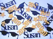 Graduation Confetti, Graduation Decorations, Graduation Party Decorations, Photo Prop, Class of 2019 Confetti, Name Confetti, Table Decor