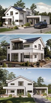 Einfamilienhaus, modernes Gebäude mit Satteldacharchitektur & separatem Bürogebäude …, #anbau # …   – Arbeitszimmer