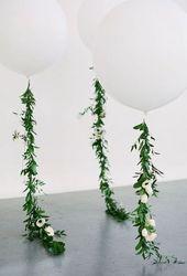 Grüne Babyparty-Ideen; DIY Greenery Dekorationen für eine geschlechtsneutrale Babyparty   – deko.hairp.site