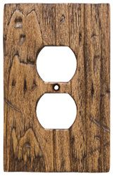 Barnwood Style O1 Outlet Cover Shown In Color Rustic Barn Hand