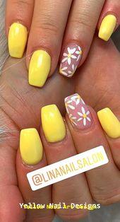 23 große gelbe Nail Art Designs 2019 1 #yellownails #nailarts