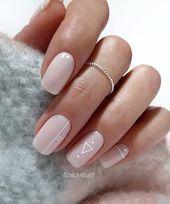 100 heißesten Acryl Square Nails Design für Shor…