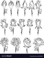 Rose zeichnen – Doodle