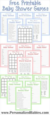 Free Printable Baby Shower Games   Personalized Babies – Baby Shower