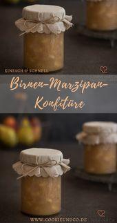 Birnen-Marzipan-Konfitüre mit Amaretto