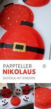 Weihnachtsdeko basteln mit Kindern: Schneemann Pappteller Girlande – wirtestenundberichten: DIY ¦ Basteln ¦ Kinder