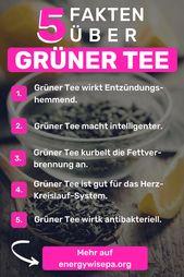 Ist grüner Tee gesund? – 11 gute Gründe, warum Sie mehr trinken sollten   – Vegane Gesunde Lebensmittel