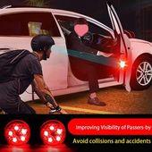 4pcs Car Door LED Opening Warning Lamp Safely Flash Light Car Accessories –  – #…