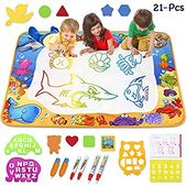 Amazon Com Toyk Aqua Magic Mat Kids Painting Writing Doodle Board Toy Color Doodle Drawing Mat Bring Magi Little Girl Toys Painting For Kids Toddler Gifts