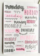 DIY Cuadernos Want some inspiration for your bullet journal? Try out these super easy weekly h...