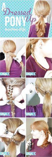 Was Sie brauchen: – Haarnadeln – Mini-Haargummis -…