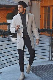 Fashion Mens Warm Outerwear Coat – Fall fashion