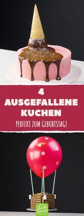 4 ausgefallene Kuchen Perfekt zum Geburtstag! #rez…