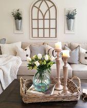 ✔45 beautiful farmhouse living room design and decor ideas 28