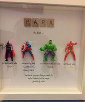 Rächer Superhelden Zahlen Rahmen Geschenk. Ideal für den Vater, Bruder, Sohn, Neffen, Freund, Ehemann. Vatertagsgeschenk zum Geburtstag oder zu Weihnachten – Geschenkidee