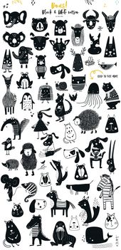 Baby Ilustration Big Kids Collection by JB ART on Creative Market #scandinaviandesign #silhouette...