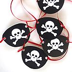 Pirates & Crossbones Halloween FREE: Hats, Name Card Ships & Pirates Eye Patch -…