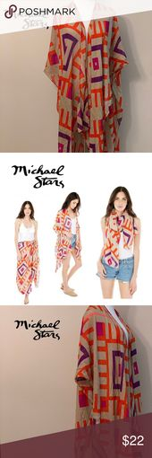 NWOT Michael Stars Ruana (scarf, sarong, or shaw) Wear it as a scarf, sarong, or…