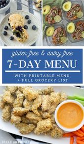 Healthy Gluten Free Dairy Free Family Menu And Shopping List