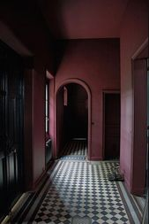 HALLWAYS IN TECHNICOLOUR – Abigail Ahern Blog #burgundylivingroomdecor