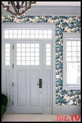Our Dreamy Blue Wallpapered Mud Room Our Dreamy Blue Wallpapered Mud Room Addiso…