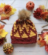 How to Crochet a Chevron Beanie Hat: Free Tapestry Crochet Pattern – Crochet