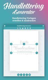 The Handlettering Generator Erstellen Sie Schone Handlettering Vorlagen Fur Lettering Handlettering Lettering Fonts