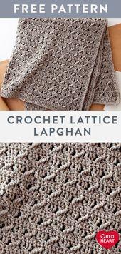 Crochet Lattice Lapghan kostenlose einfache Häkelanleitung in Suoer Saver Garn. Wechseln…   – Crochet Love