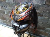 Impressive Predator Helmet Street Fighter Mix Carbon and Roving Material  – DOT …   – stuff to Buy