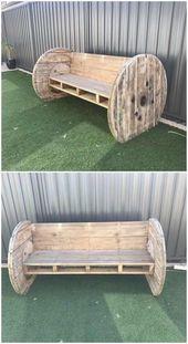 Kreative DIY Holzpaletten, die Ideen wiederverwenden