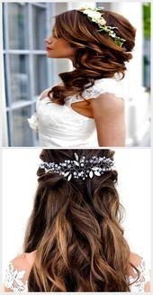 Bridal Hairstyles Half-Open Side, #Bridal Hairstyles #Half Open #Side