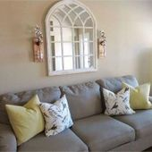 47 The Secrets Of Above Couch Wall Decor Farmhouse Mirror Revealed 52 #abovec, #abovec #Cou…