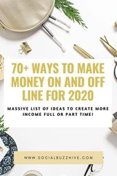 70+ Ways to Make Money On and Off Line – SocialBuzzHive.com