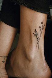 100 idées tendance de tatouage de fleur d'aquarelle pour les femmes – #Girls # for #Development…
