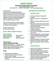 Management Consulting Graduate Resume Management Consulting Resume Check Out This Management Consulting Resume Offers You More Information On How T Pinterest