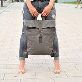 White leather backpack / leather bag / backpack / messenger / leather backpack / laptop bag / for her / for him / unisex / satchel / white bag