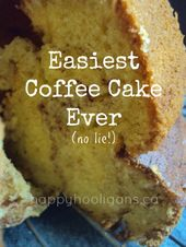 Best-ever coffee cake when you need a quick and easy recipe in a hurry. Super-mo… – Food inspiration